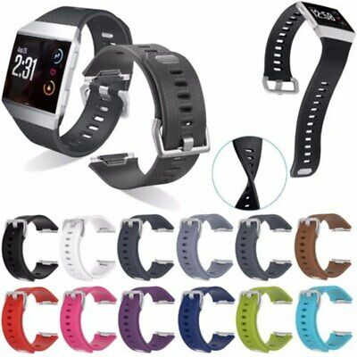 for FitBit Ionic Strap Replacement Band Classic Metal Buckle Wristband Accessory