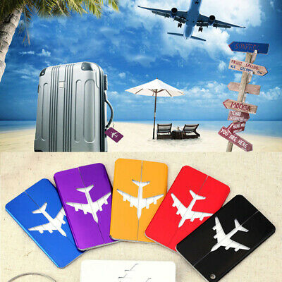New Aluminium Plane Luggage Tag Suitcase Label Name Address ID Baggage Tag HL816