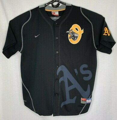 Nike Oakland Athletics A's Men's Large L Black Jersey Stomper Elephant MLB