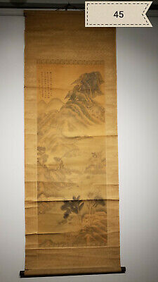 Chou Ying Shan silk Antique Scroll