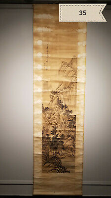 Shen Zhuo landscape Antique Scroll