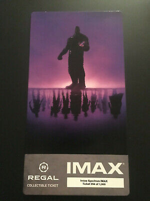 Avengers Endgame Opening night IMAX Regal Collectible Ticket ! 1 Out Of 1,000 !