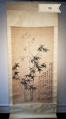 Zheng Banqiao large hall of bamboo Antique Scroll