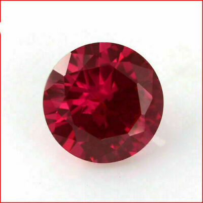 6 mm Natural Round Cut Red Ruby GIA Certificate Origin Mozambique Jewelllery Use