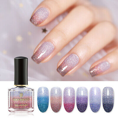 BORN PRETTY 6ml 3 Layers Thermal Nail Polish Holographic Glitter Nail Varnish