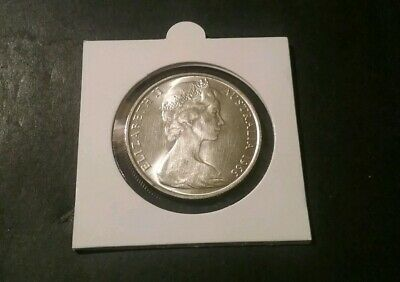 1966 Australian Round 50 Cent Coin - 80% Silver Rounded Fifty Cent