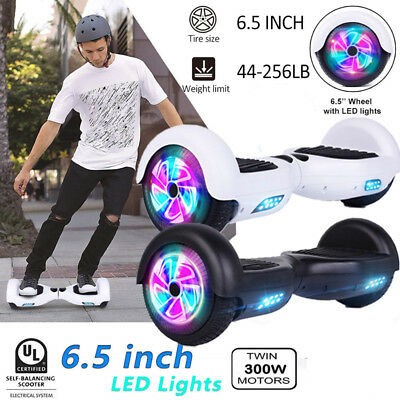 "6.5"" ZOLL Self-Balancing Elektro Scooter Dual 300W Smart Hoverboard w/ LED+ Bag"