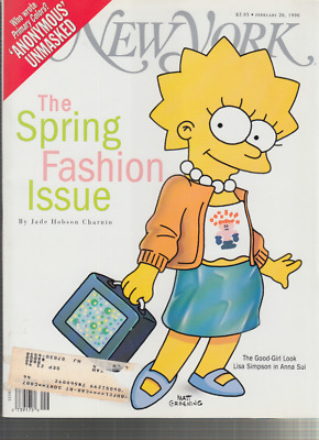 new york febuary 26 1996 the spring fashion issue lisa simpson wering anna sui