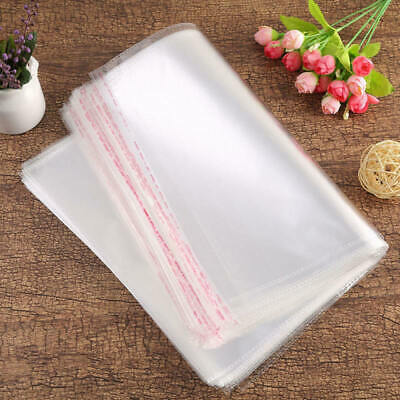 100pcs Clear Opp Self-Adhesive Clothing Plastic Bag For Clothes Socks Packaging