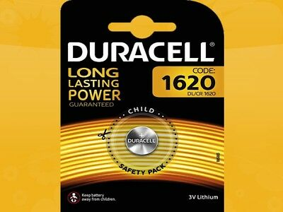 30 X Duracell Cr1620 Dl1620 Blister de Cellule au Lithium Bouton Batteries