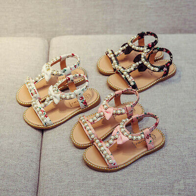 225aa6a6e2 NEW CUTE BABY Girls Sandals Bow-knot Toddler Princess Shoes for ...