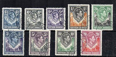 Northern Rhodesia 1938-52 4 1/2d to 20s FU CDS