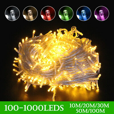 Waterproof Mains Powered 10-100M LED Fairy String Lights Xmas Wedding Outdoor UK