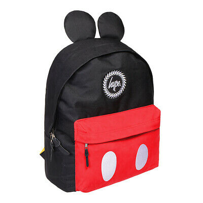c25e1a88e14 Hype Disney Mickey Mouse Black Red Backpack - Girls Boys School Bag Rucksack
