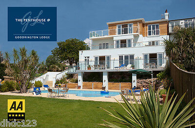 Luxury Devon Holiday Penthouse Sea views + Hot tub + Pool   Sat 3 -  Sat 10 Oct