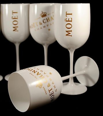 Moet Chandon Ice Imperial Champagne Flutes X 4 Unboxed New Style 2018 Brand New