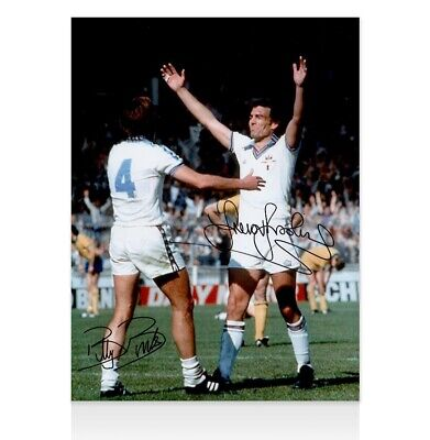 Billy Bonds & Sir Trevor Brooking Signed Photo - West Ham 1980 FA Cup Winners