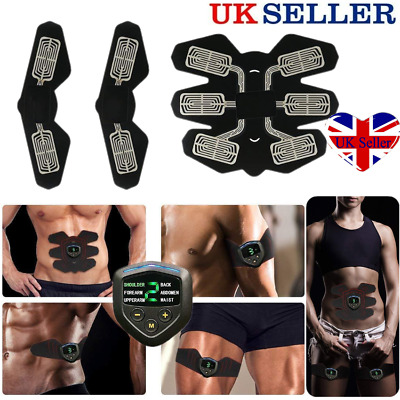 3 In 1 USB Rechargable Fitness Abdominal Muscle Trainer ABS Stimulator Toner Kit