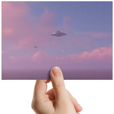"UFO Alien Flying Saucer Space Small Photograph 6/""x4/"" Art Print Photo Gift #8853"