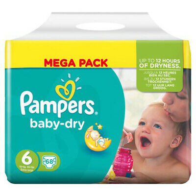 Pampers Babydry Nappy - Size 6 - Pack 64