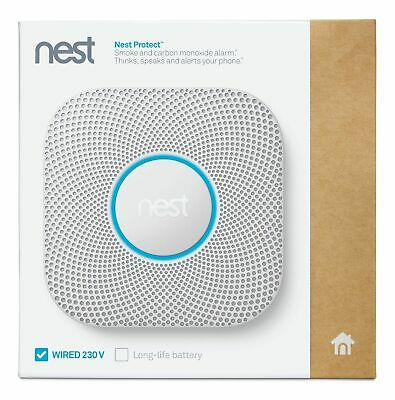 Nest Protect 2nd Generation WIRED Smoke and CO Detector 230V home alert to phone