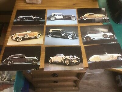 Job Lot Of 20 Michel & Co. Fotographic  Collection Vintage Car Quality Postcards