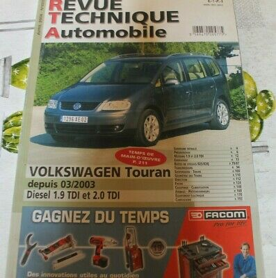Revue technique automobile RTA VOLKSWAGEN TOURAN  n° 693