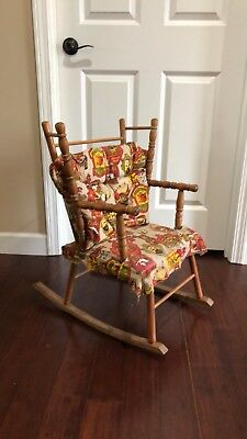 Vintage Childs Children's Doll Wood Rocker Rocking Chair N. D. Cass Co. -I Think