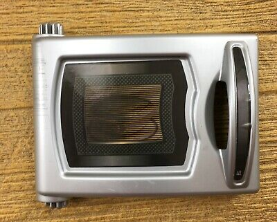 Step 2 Lifestyle Dream Kitchen Silver Microwave Oven Door Replacement Part Piece