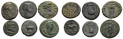 FORVM VF Lot of 6 Greek and Roman Provincial Bronze Coins 300 BC-300 AD