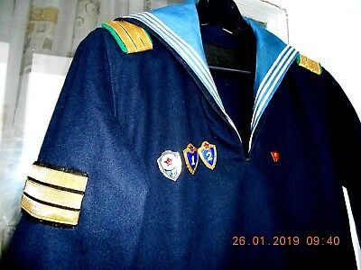 UNIFORM Sailor's shirt jacket of the Navy of the USSR Navy + badges