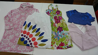 GIRLS age 9-10 BUNDLE Boden towelling robe, top, Next & H&M (120)