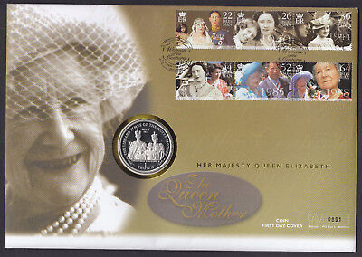Isle of Man IOM Queen Mother Coin Cover Royalty Royal 2000 Woman of the Century