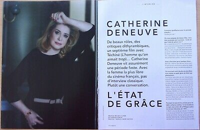 coupures de presse/  CATHERINE DENEUVE/5 pages/en 2014/ ref. 67588