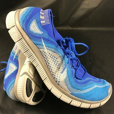taille 40 1438f 0db08 NIKE FREE 5.0 Flyknit 615805-414 Homme Athlétique Baskets Taille 9  Bleu/Blanc