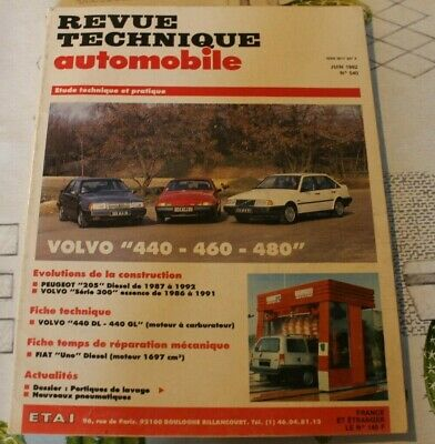 RTA revue technique automobile n° 540 VOLVO 440 460 480