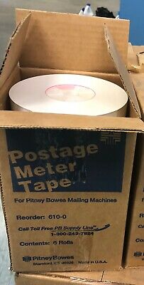 PITNEY BOWES 610-0 POSTAGE METER TAPE 6 ROLLS  (3 boxes for $25.00)