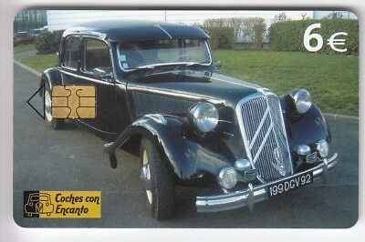 Europe  Telecarte / Phonecard .. Espagne 6€ Auto Citroen Traction 2004 Chip/Puce
