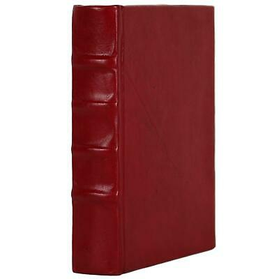 """Old Red Leather Bound Book Journal Notebook Diary Ruled Lined 5"""" X 7"""""""