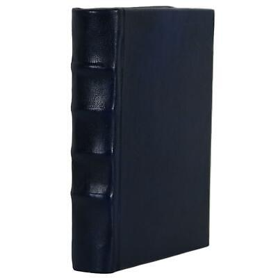 "Old Blue Leather Bound Book Journal Notebook Diary Ruled Lined 5"" X 7"""