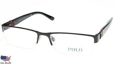 324bae3ebecb NEW POLO RALPH LAUREN 1117 9038 MATTE BLACK EYEGLASSES GLASSES 56-17-140  B30mm