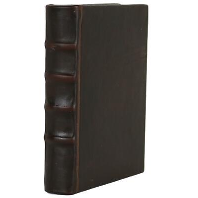 """Old Brown Leather Bound Book Journal Notebook Diary Ruled Lined 5"""" X 7"""""""