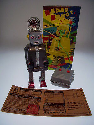 "GSR ROBOT ""RADAR ROBOT"" TIN TOM TOYS ,  24cm, NEU / NEW / NEUF IN BOX !"