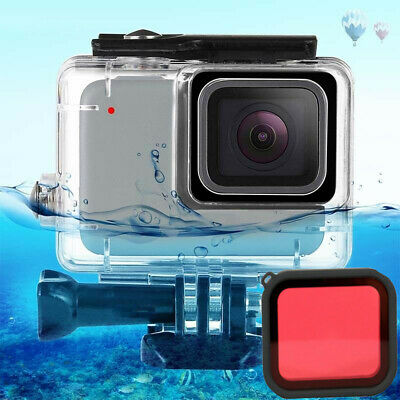 45m Underwater Waterproof Housing Shell /Optical Filter For Gopro Hero7 Silver