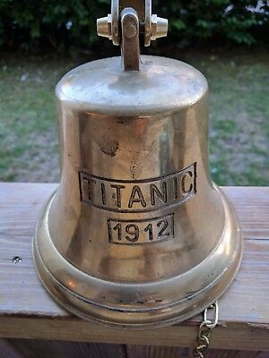 Nautical/Marine Large Brass Bell engraved with Titanic 1912