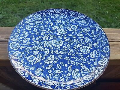 Vintage/ Old Japanese White and Blue Porcelain Plate