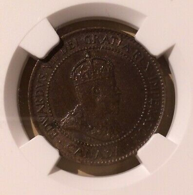 1902 CANADA 1 Cent NGC AU 55 BN - Large Cent