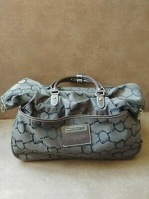 "Ralph Lauren Chaps 20"" Rolling Duffle Tote Bag Carry On Luggage Travel Brown"