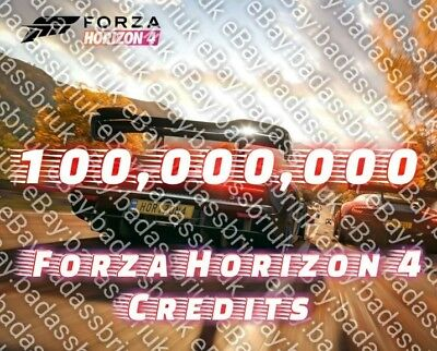100 Million Fh4 Forza Horizon 4 Credits For Xbox & Pc - Best Deal On Ebay!!!