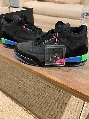 f156a4f3e98187 Ds Mens Nike Air Jordan Iii 3 Retro Se Q54 Quai 54 At9195 001 Sz 7.5